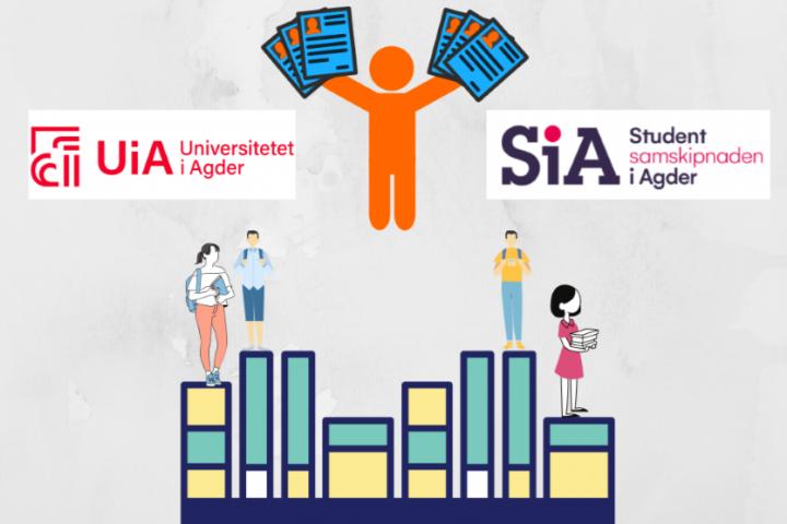 Mange studentjobber på UiA og i SiA